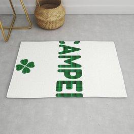 Luckiest Camper Ever St. Patricks Day Lucky Irish Rug