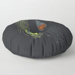 Prancing Peacock Floor Pillow