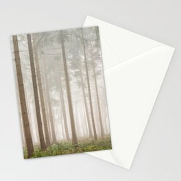 Foggy pine forest | Trees in morning mist | nature photoprints Netherlands Stationery Cards