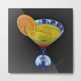 Sunset Martini Metal Print