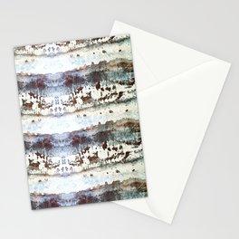 Peeling Paint Stripe Stationery Cards