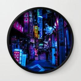 Tokyo's Moody Blue Vibes Wall Clock