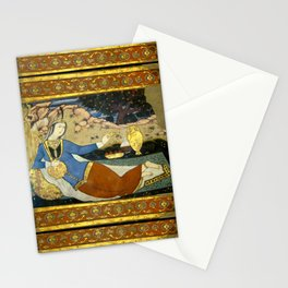 Persian Fresco Miniature Lady in the Garden Stationery Cards