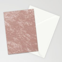 Soft rose gold velvet Stationery Cards