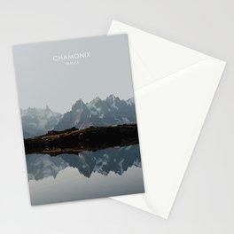 Chamonix, France Travel Artwork Stationery Cards