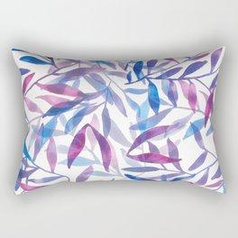 Hojas azules Rectangular Pillow