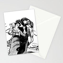 Non Monogamy - Fun Polyamorous - Polyamory - Three Women - Throuple - Spooning - Triad Illustration Stationery Cards