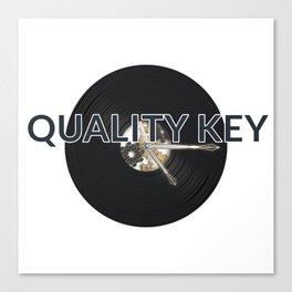 Quality Key: Vinyl Time Canvas Print
