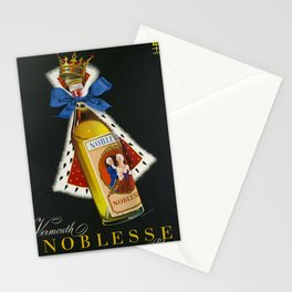 placard vermouth noblesse blanc geneve bouteille Stationery Cards