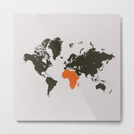 world map, Africa Metal Print