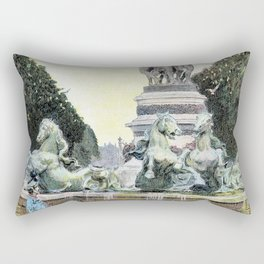 The Fountain Of The Observatory - Georges Stein Rectangular Pillow