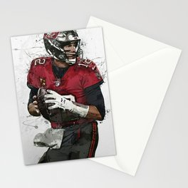Tom Brady Art Poster Tam-pa Bay Buccaneers Football Hand Made Posters Canvas Print Kids Wall Art Man Cave Gift Home Decor Stationery Cards