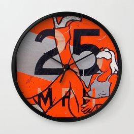 25 MPH Recline Wall Clock