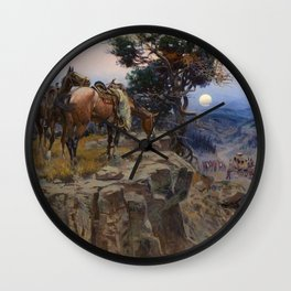 """Innocent Allies"" by Charles M Russell Wall Clock"