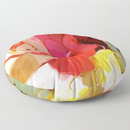 color poem pink abstract Floor Pillow