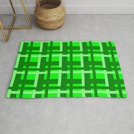 Plaid -- Lime Rug