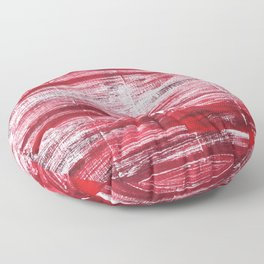 Red abstract Floor Pillow