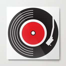 Groovy Record Metal Print