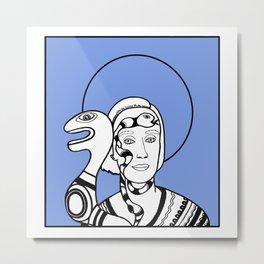 Woman Artist Portrait #2 Niki de Saint Phalle Metal Print