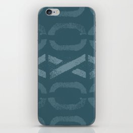 Shapes Of Love - Teal Bold Pattern iPhone Skin