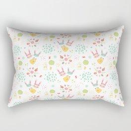 Easter Bunny Scandinavian Pattern Rectangular Pillow