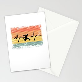 Vintage Heartbeat Parkour Gift Idea Stationery Cards