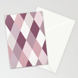 Rose, Purple, Neutral Geometry IIA Stationery Cards