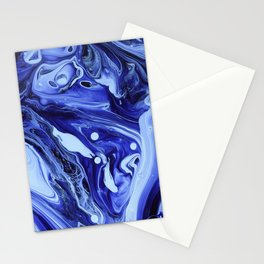 MIDNIGHT BLUE MARBLE Stationery Cards