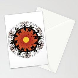 Halloween Mandala Stationery Cards