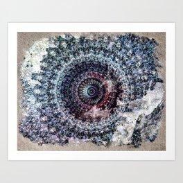 Found in the Desert - Kaleidoscopic Mandala Digital Abstract Art Print