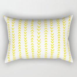Yellow Arrows Rectangular Pillow