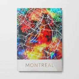 Montreal Watercolor Map Metal Print