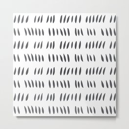 MATISSE CUTOUTS . SLATE GRAY + WHITE Metal Print