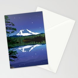 Mt Adams and Stars and Tree Stationery Cards