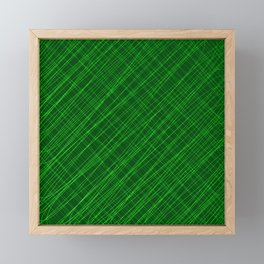 Cross ornament of their green threads and iridescent intersecting fibers. Framed Mini Art Print