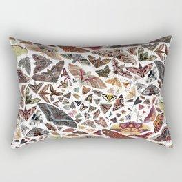 Moths of North America Pattern Rectangular Pillow