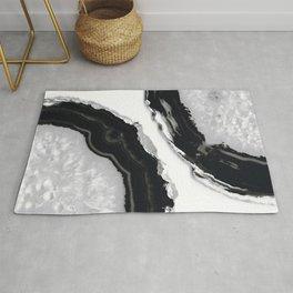 Gray Black Agate #6 #gem #decor #art #society6 Rug