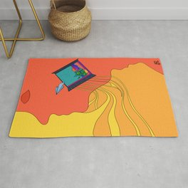 The window to your dreams (Yellow) Rug