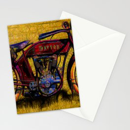 Vintage 1950's Motorcycle Stationery Cards