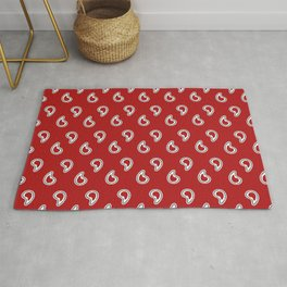 Red Piano Pattern Rug