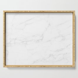 White Marble II Serving Tray