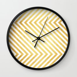 Gold and marble art VII Wall Clock