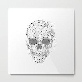 Super cool Skull Molecules Metal Print