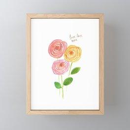 Love Lives Here  Framed Mini Art Print