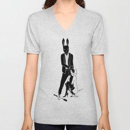 Mr Bunny is cruel Unisex V-Neck