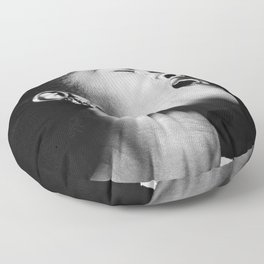 Billie Holiday, 1940's black and white photograph / photography / photographs Floor Pillow