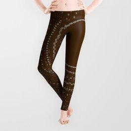 Brown Gold Multi Mandala Leggings