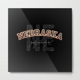 Nebraska Vintage Retro Collegiate Metal Print