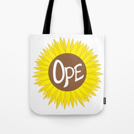 Hand Drawn Ope Sunflower Midwest Tote Bag