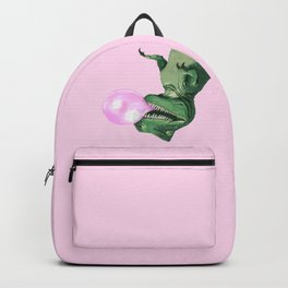 Bubble gum T-Rex in Pink Backpack